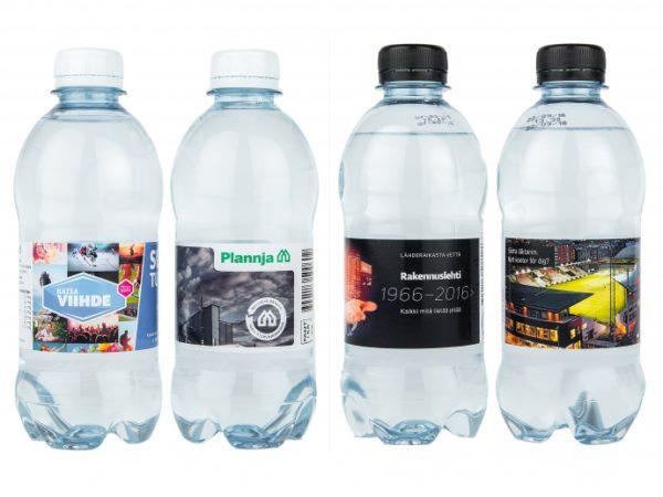 Lähdevesi / kivennäisvesi asiakkaan labelilla