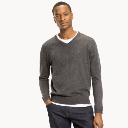 Tommy Hilfiger Core Cotton-Silk VNeck