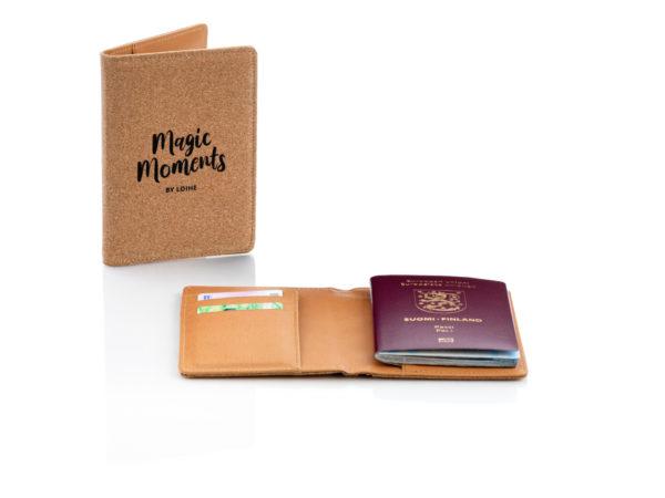 ECO-korkkisuojattu RFID-passitasku