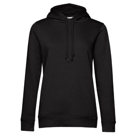Organic hooded black pure lady